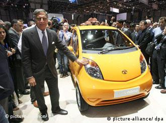 Tata's boss Ratan Tata with the Nano