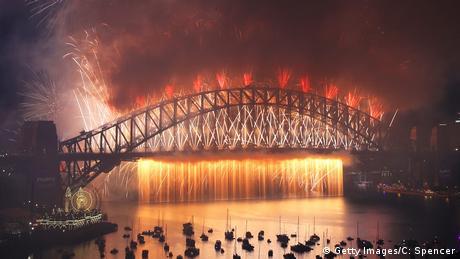 Australien Sydney Jahreswechsel Feuerwerk (Getty Images/C: Spencer)