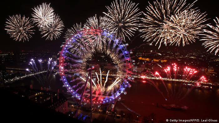 Großbritannien London - Silvester 2017 (Getty Images/AFP/D. Leal-Olivas)