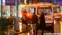 People run away from a nightclub where a gun attack took place during a New Year party in Istanbul, Turkey, January 1, 2017.Ismail Coskun/Ihlas News Agency via REUTERS ATTENTION EDITORS - THIS PICTURE WAS PROVIDED BY A THIRD PARTY. FOR EDITORIAL USE ONLY. NO RESALES. NO ARCHIVE. TURKEY OUT. NO COMMERCIAL OR EDITORIAL SALES IN TURKEY. TPX IMAGES OF THE DAY