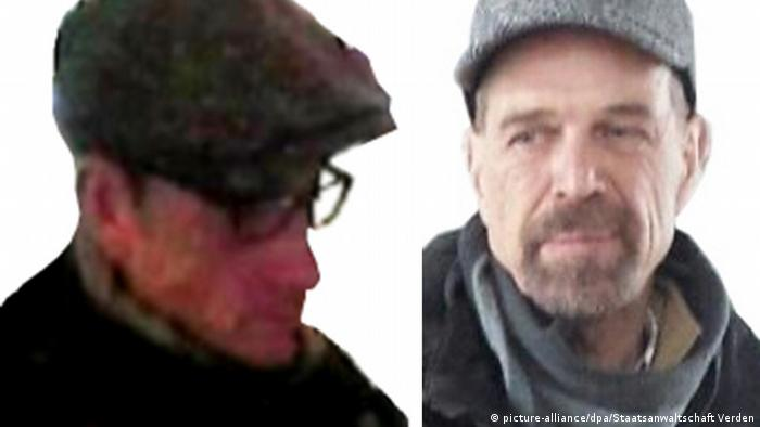 Police pictures of ex-RAF members Burkhard Garweg and Ernst-Volker Staub (picture-alliance/dpa/Staatsanwaltschaft Verden)