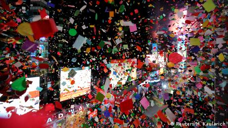 New York Times Square Silvester (Reuters/M. Kaularich)