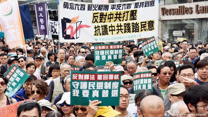 China Neujahresproteste in Hongkong