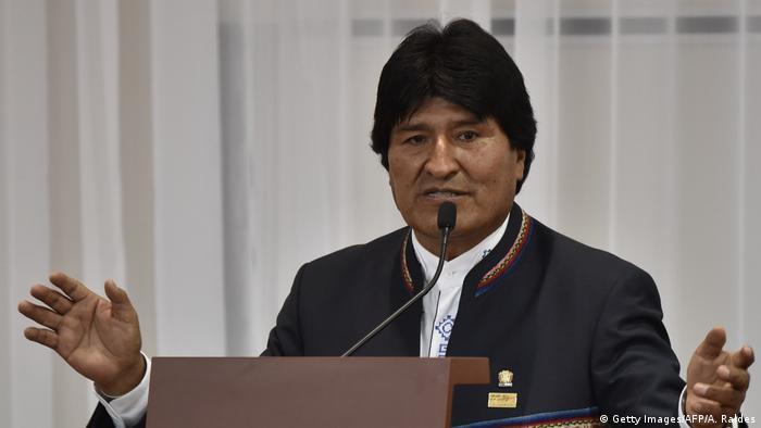 Bolivien Präsident Eva Morales (Getty Images/AFP/A. Raldes)