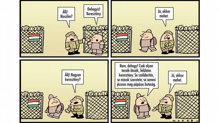 Kleiner Grenzdialog des ungarischen Comiczeichners Marabu (Marabu)