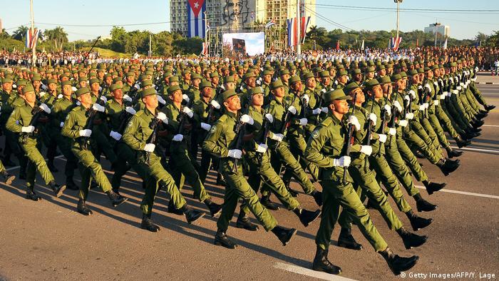 Kuba Havana Militärparade