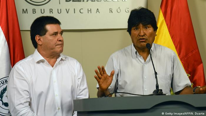Paraguay Horacio Cartes und Evo Morales (Getty Images/AFP/N. Duarte)