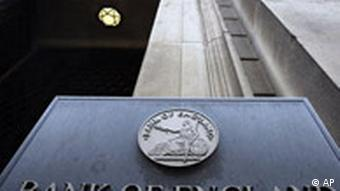 A sign reading Bank of England