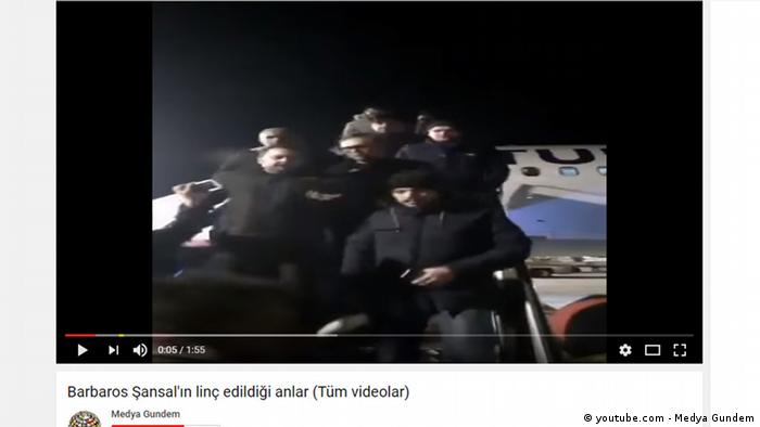 Youtube Screenshot Medya Gundem - Modemacher Barbaros Şansal in Istanbul angegriffen (youtube.com - Medya Gundem)