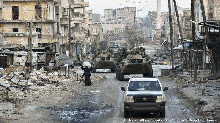 Syrien Krieg - Russisches Militär in Aleppo (picture-alliance/dpa/Russian Defense Ministry Press Service)