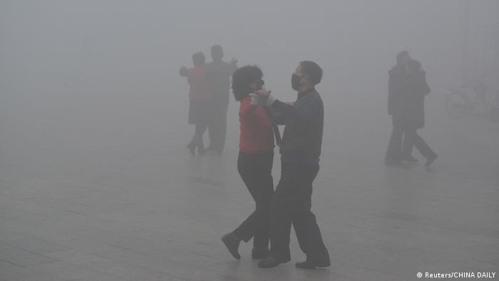 China Smog in Fuyang (Reuters/CHINA DAILY)