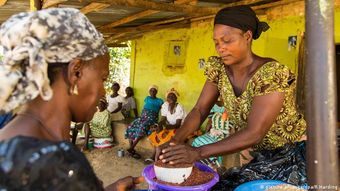 Westafrika Markt Baba Peter Keita