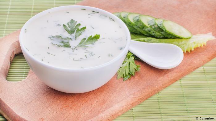 حساء الخيار البارد