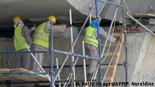 Saudi Arabien ausländische Arbeiter im Baugewerbe