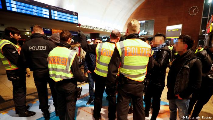 Police speak to men in Cologne Central Station