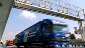 Truck passing toll system
