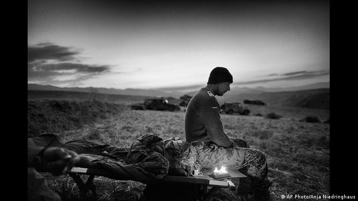 Photo Anja Niedringhaus A solider in Afghanistan