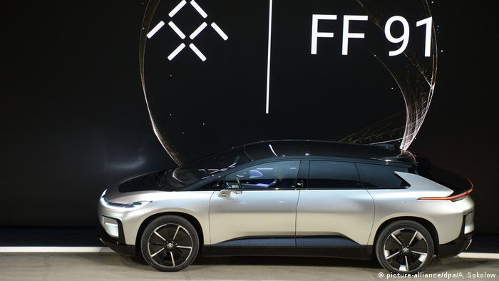 USA CES 2017 Elektrowagen FF91 (picture-alliance/dpa/A. Sokolow)