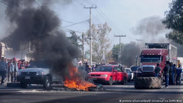 Mexiko Proteste gegen erhöhte Benzinpreise (picture-alliance/dpa/El Universal via ZUMA Wire)