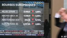 Finanzkrise Europa Aktienkurse Symbolbild