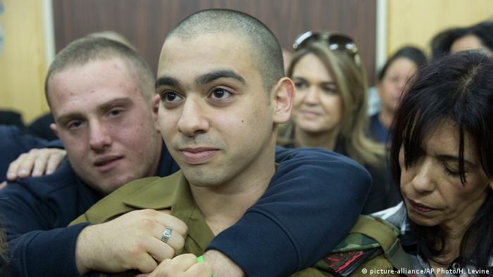 Israel Elor Asaria vor Gericht (picture-alliance/AP Photo/H. Levine)