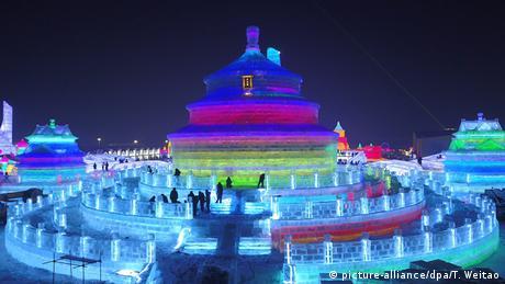 Στην έκθεση της Χαρμπίν περιλαμβάνεται και μια αντιγραφή του Ναού του Ουρανού στο Πεκίνο, όπου προσεύχονταν οι αυτοκράτορες της τελευταίας δυναστείας για να έχουν καλή σοδειά.