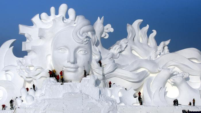 China Harbin Eisskulpturen (Reuters)
