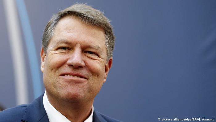 Belgien Rumäniens Präsident Klaus Werner Iohannis