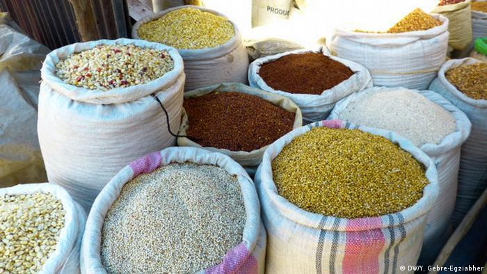 A food market in Ethiopia (DW/Y. Gebre-Egziabher)