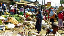 Lebensmittel-Markt in Addis Ababa Datum 040117 Fotograf Yohannes G/Egziabher DW Korrespondent in Äthiopien)
