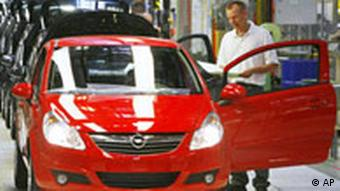 Opel production line in Eisenach