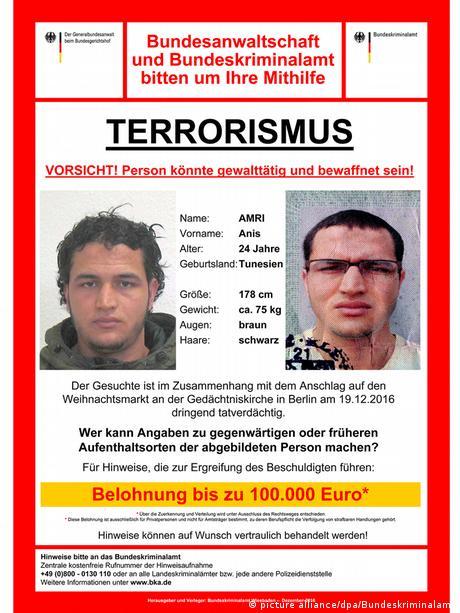 Deutschland Fahndungsfoto Anis Amri (picture alliance/dpa/Bundeskriminalamt)