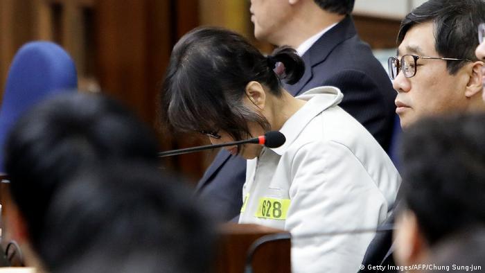 Südkorea Seoul Gerichtsverfahren gegen Choi Soon-Sil, Freundin von Präsidentin Park Geun-Hye (Getty Images/AFP/Chung Sung-Jun)