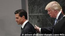 Enrique Pena Nieto und Donald Trump (picture-alliance/AP Photo/D. Lopez-Mills)