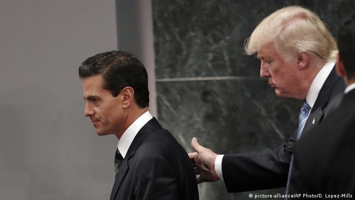 Enrique Pena Nieto und Donald Trump