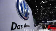 --FILE--The logo of Volkswagen is pictured during an auto show in Shanghai, China, 20 April 2015. Three months after announcing the biggest annual loss in the company's history for 2015 due to its diesel emissions scandal, Volkswagen in July unveiled unexpectedly high profits for the first half of this year, fuelled by sales of VW cars in China. There, unlike Europe and the US, the VW brand has not been tarnished by the German carmaker's scandal, and Chinese demand for vehicles is strong in spite of the country's economic slowdown. But China's tolerance for polluting vehicles ¡ª the market is dominated by cars powered by petrol engines ¡ª is now drawing to an end. A rollout of new legislation due to be completed by 2020 aims to tighten China's rules on cars' emissions and fuel economy, bringing them into line with western countries and thereby curbing the industry's contribution to global warming and air pollution. |