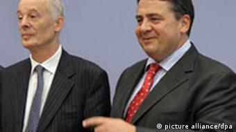 Leiter des Potsdam-Instituts für Klimafolgenforschung, Hans Joachim Schellnhuber und Bundesumweltminister Sigmar Gabriel