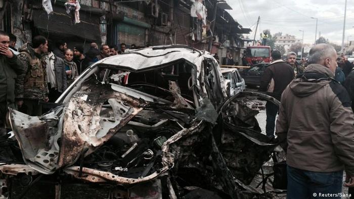 Autobombenanschlag im Januar in Jableh in Syrien