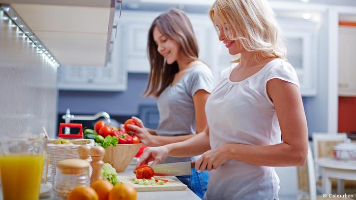 Küche Kochen Ernährung Teenager