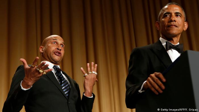 USA | Barack Obama mit Anger Translator (Getty Images/AFP/Y. Gripas)