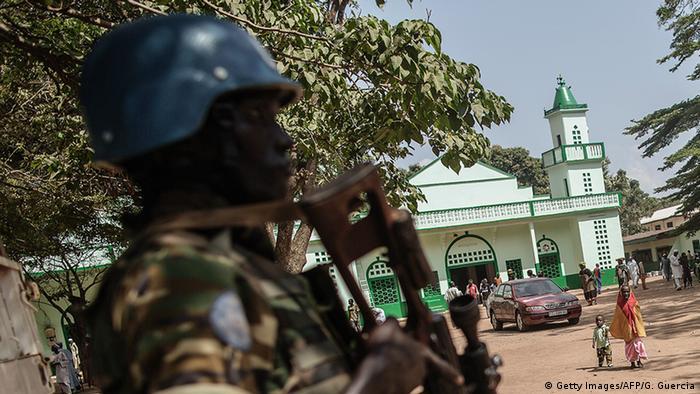 Zentralafrikanische Republik - Blauhelmsoldat in Bangui