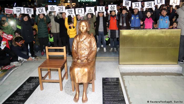 Südkorea Busan Statue Gedenken Trostfrauen