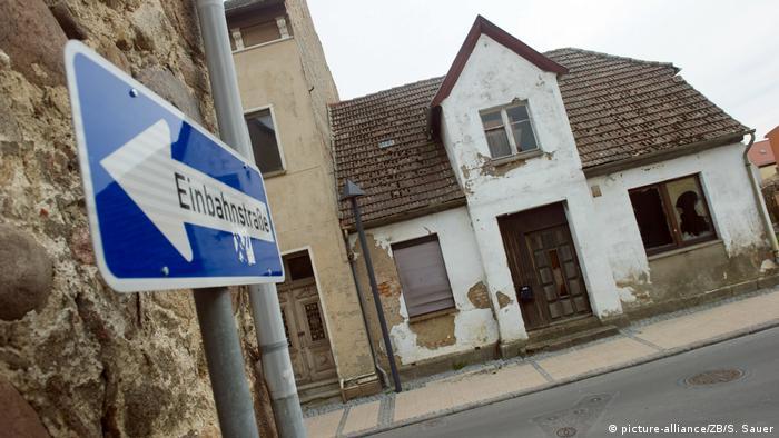 Пустующие дома в Восточной Германии