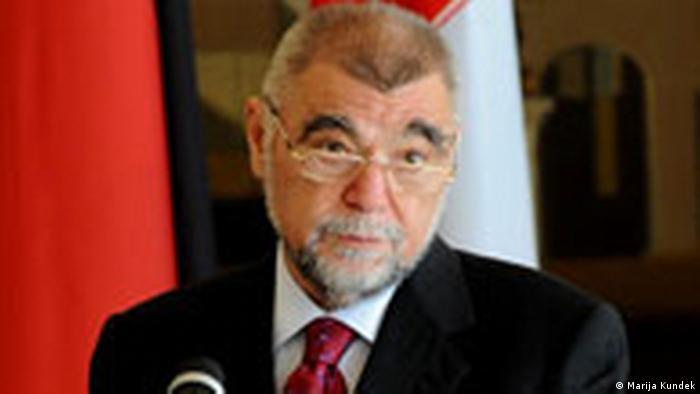 Stipe Mesić u vrijeme dok je bio predsjednik Republike Hrvatske 2008.
