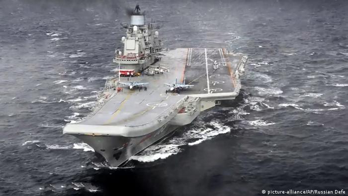 Rusia comenzó hoy la reducción de su presencia militar en Siria con la retirada de su único portaaviones, el Almirante Kuznetsov, y el crucero nuclear Pedro el Grande, desplegados en el Mediterráneo oriental. (6.01.2017)