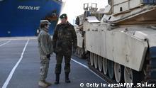USA Verlegung US Truppen für Europa in Bremerhaven
