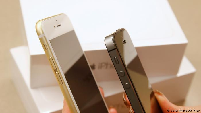 Vergleich IPhone 6 Plus und IPhone 5S (Getty Images/G. Frey)