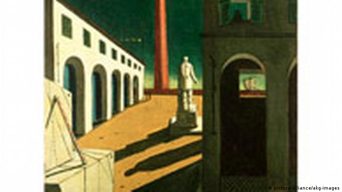 A 1915 painting by Giorgio de Chirico titled 'Fear of Waiting'