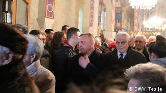 Vrkić i Stanimirović u pravoslavnoj crkvi u Borovu