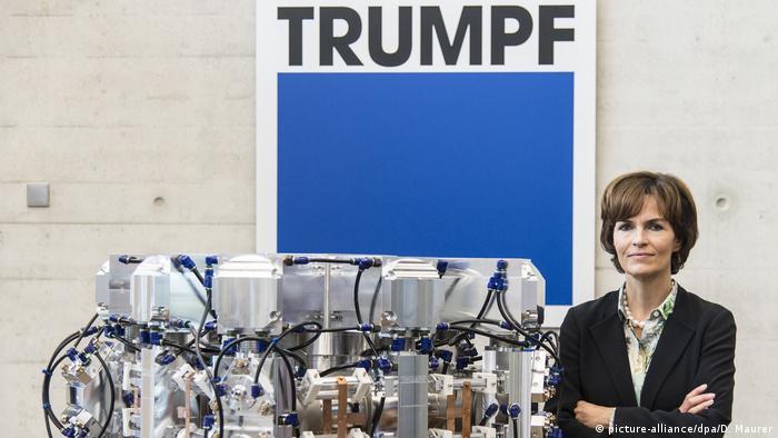 نيكولا ليبينغر-كامولر تشغل منصب المدير التنفيذي لشركة Trumpf لتصنيع الآلات وآلات الليزر.